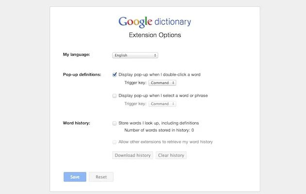 Definitions On Fly With New Google Dictionary Chrome Extension