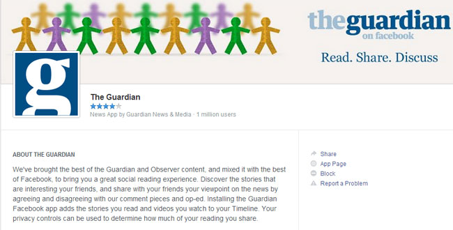 Exclusive Facebook Application from Guardian
