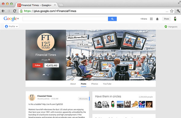 Google+ Brand Pages Concept: An Outlook