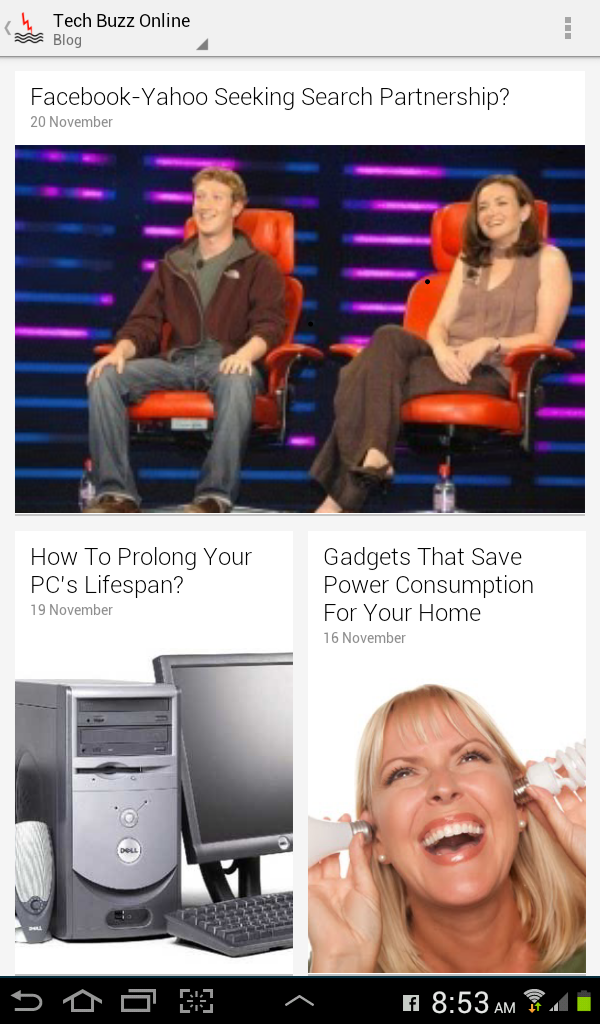 Tech buzz online on google currents