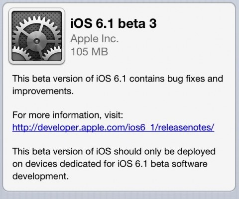 Apple Rolls Out iOS 6.1 Update