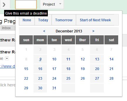 Gmail Inbox Management - ActiveInbox Deadline