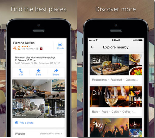 Google Maps for iOS integrates Gmail invites and gets better search