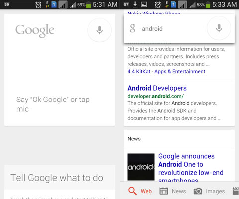 "You could now say ""OK Google"" from any screen on your Android phone"