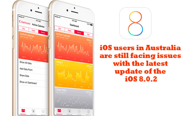 iOS users in Australia are still facing issues with the latest update of the iOS 8.0.2