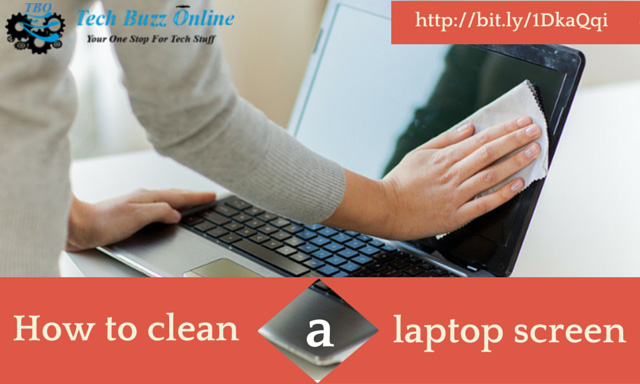 How to clean a laptop screen