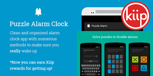 Puzzle alarm clock
