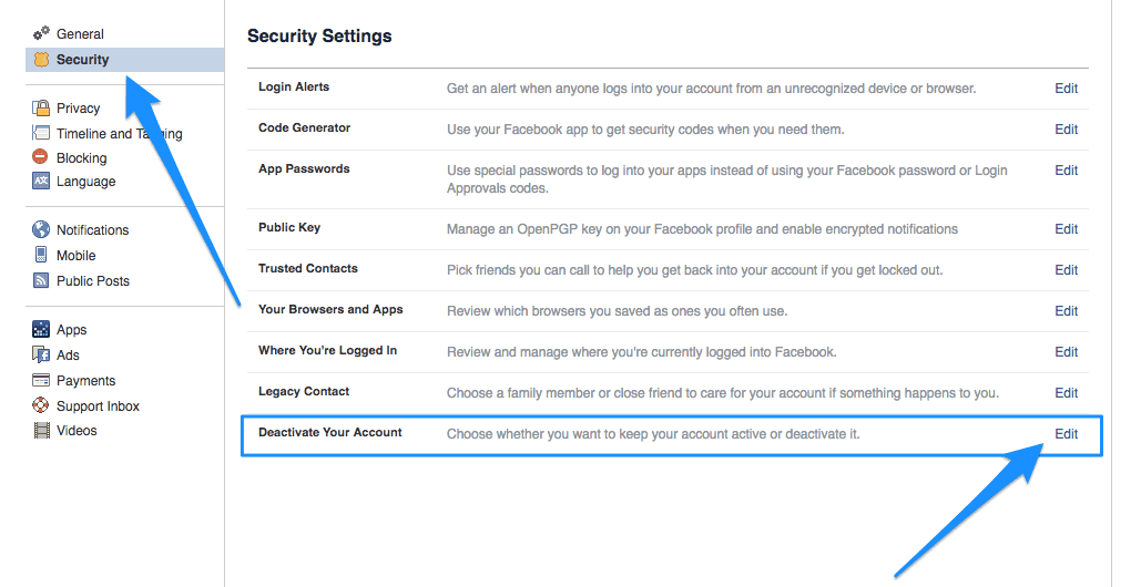 Facebook-security-settings