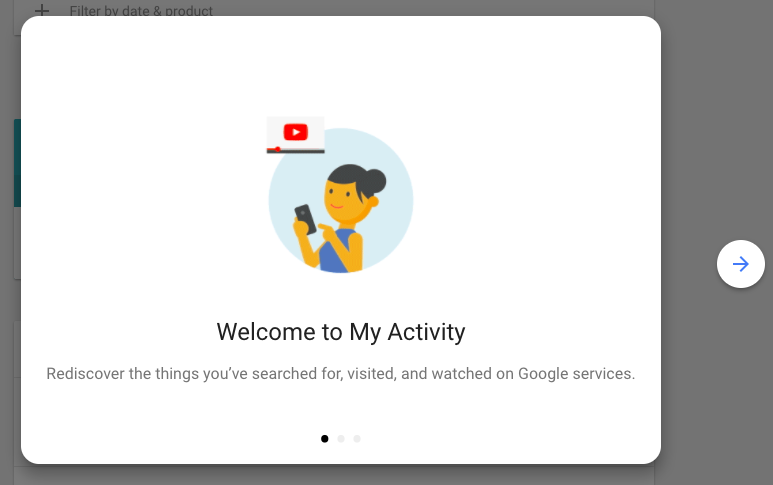 google my activity welcome 1
