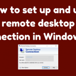 how to connect remote desktop to another computer