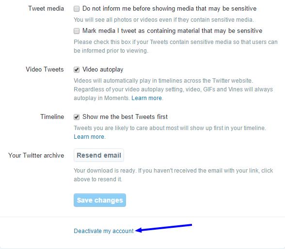 deactivate my account