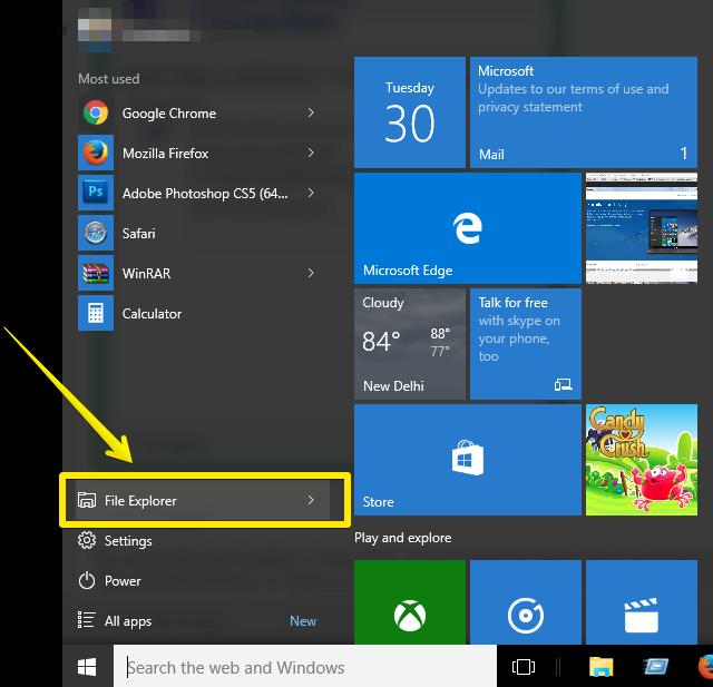 remote desktop connection-File-Explorer