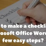 How to create a checklist in Microsoft Office Word