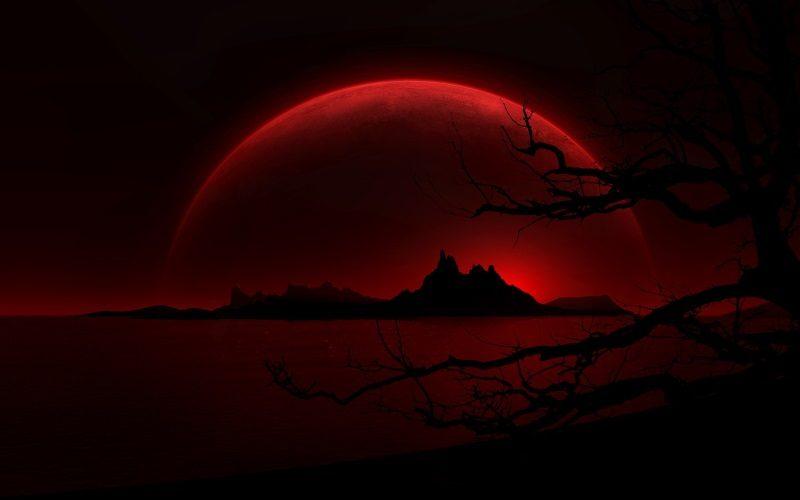 Crimson Night Background