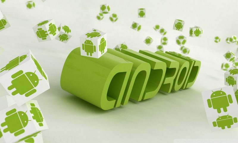 Android falling cubes wallpaper