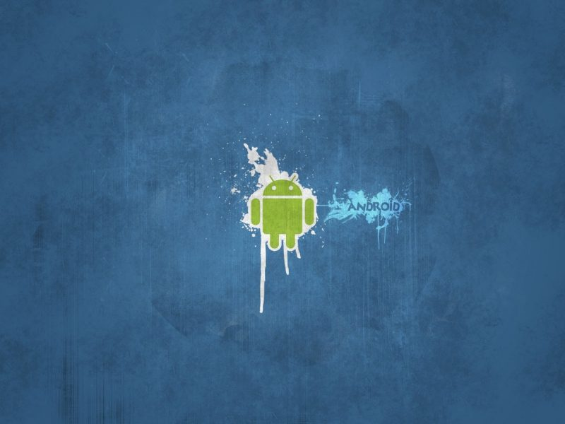 Android Logo on Background Texture