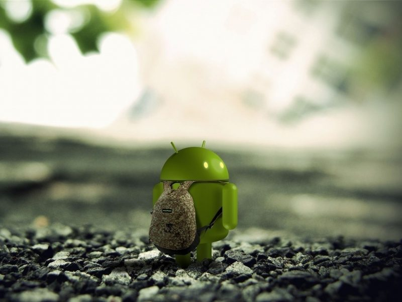 Android Robot with Backpack