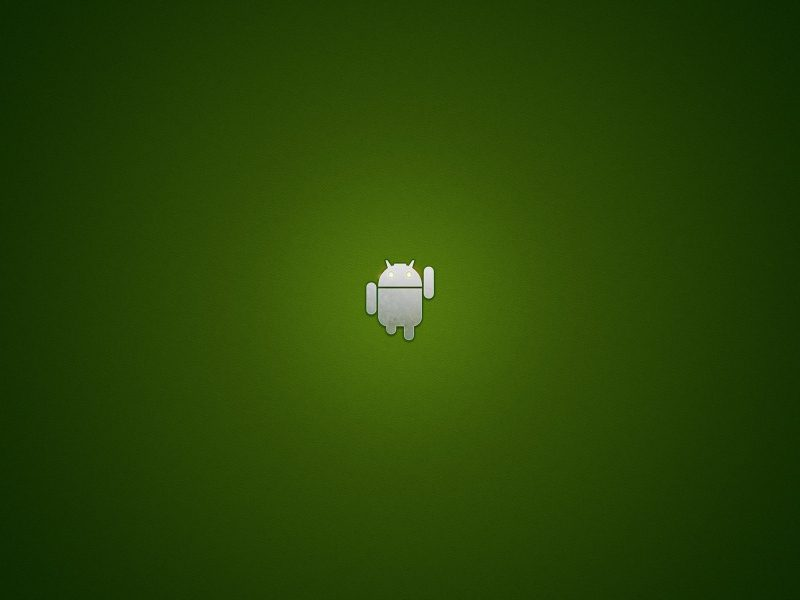 Minimal Green Android wallpaper