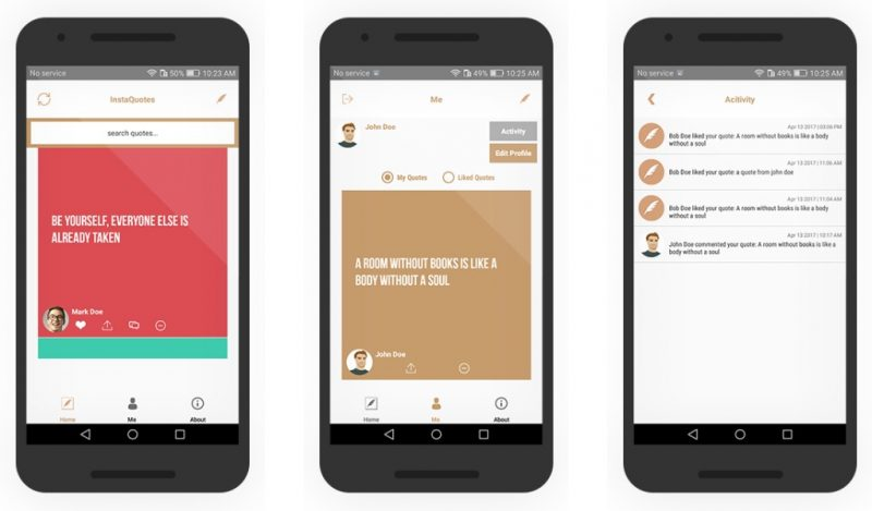 Insta Quotes - Social App