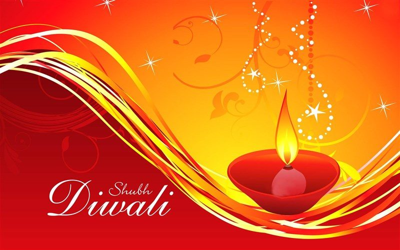Shubh Diwali Greeting Wallpaper