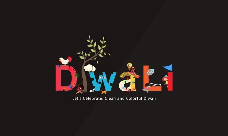 Clean Colorful Diwali Message