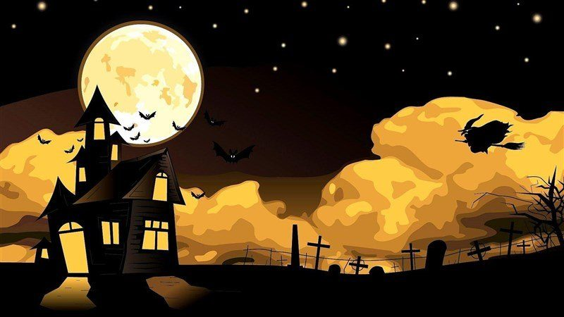 Halloween Background Night Witch