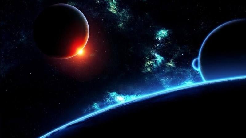 Planet Universe Galaxy Stars Flash