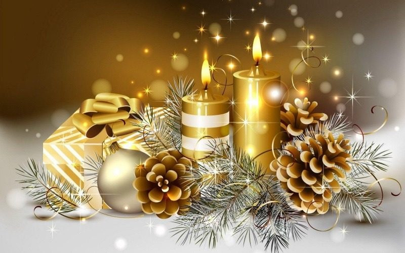 Elegant Christmas Candle Lights