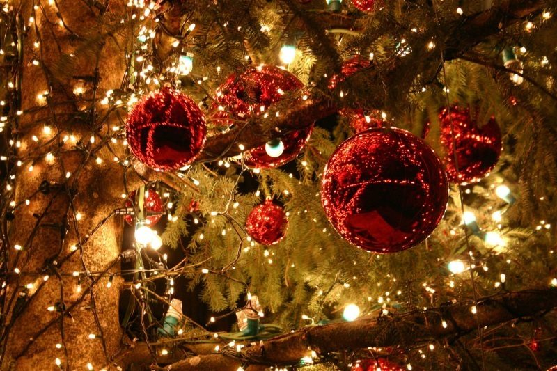 Christmas Ornaments Lights Wallpaper