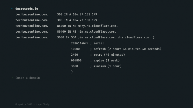 dns records of domain