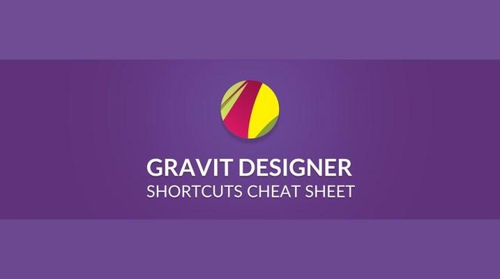Gravit Designer Keyboard Shortcuts Cheat Sheet