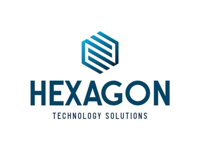 hexagon tech logo design
