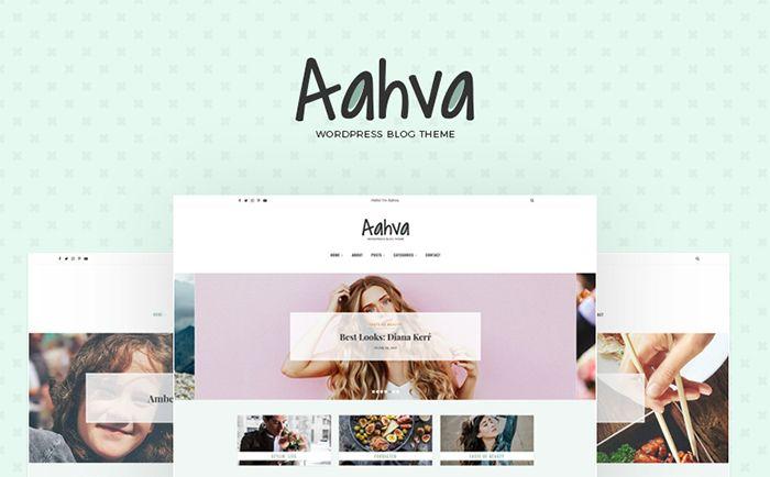 Aahva Blog WordPress Theme