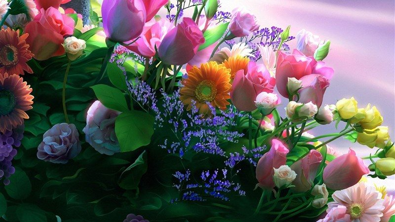 35 flowers bouquet design composition