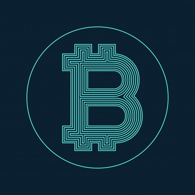 1 digital bitcoin currency symbol vector design