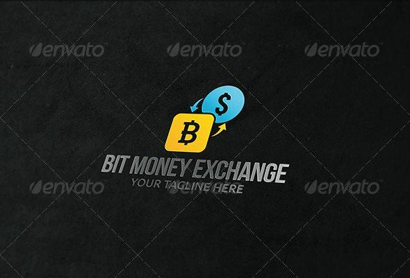 10 bit money exchange logo template