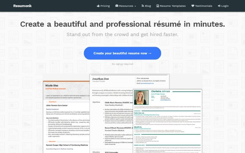 11 resumonk resume template