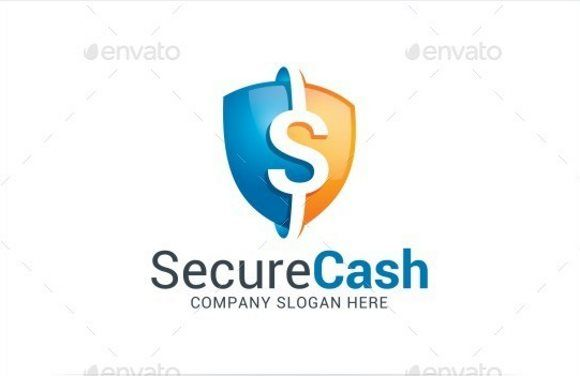 11 secure cash logo template