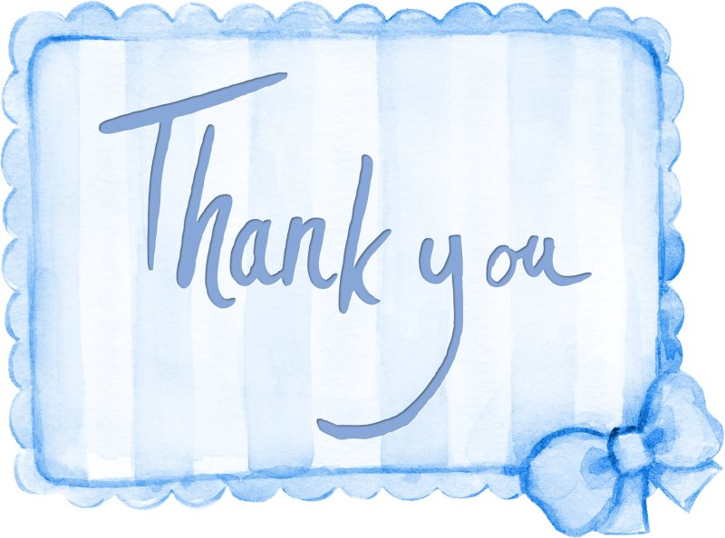 11 thank you sentiment card blue