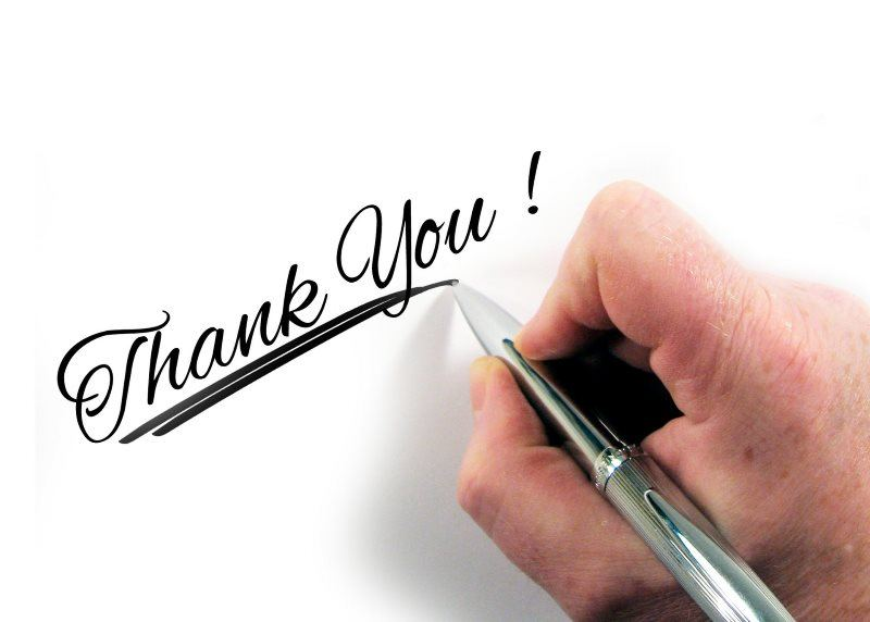 12 hand leave pen paper thank you image