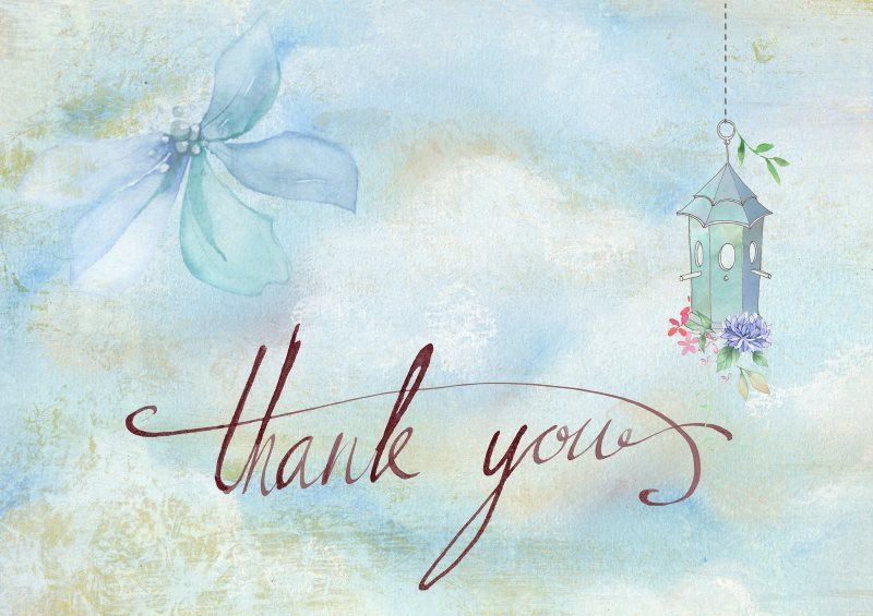 14 thank you romantic card