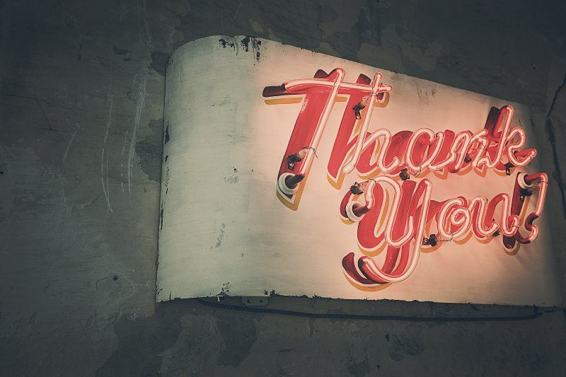 18 thank you neon lights