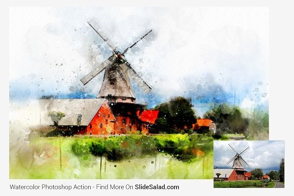watercolor masterpiece photoshop action