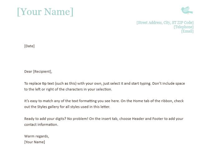 1 Standard Personal Letterhead