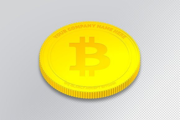 25 bitcoin editable smart object logo