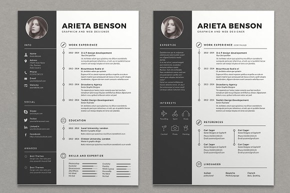 28 professional clean cv resume