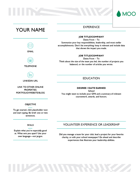32 creative word resume
