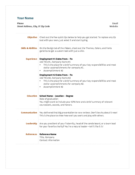 30  professional resume templates for microsoft word