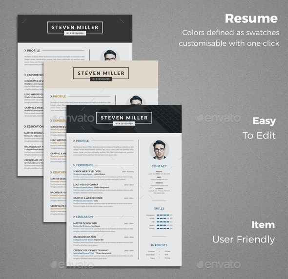 4 professional Resume template