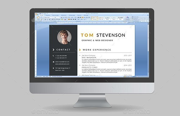5 msword photoshop resume template